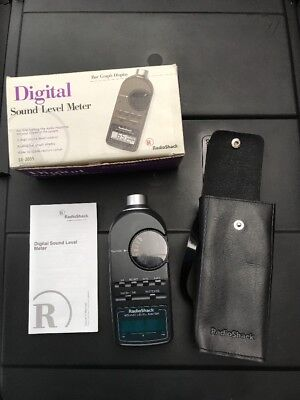 Vintage Radioshack 33-2055 Digital Sound Level Meter With Box Manual Case
