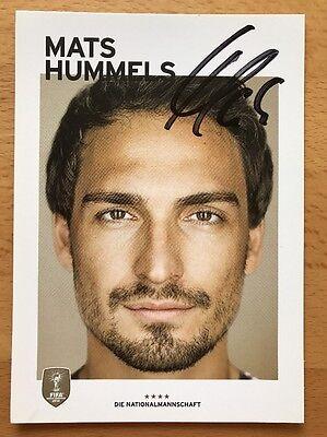 Mats Hummels 2. AK DFB 2014 Autogrammkarte original signiert