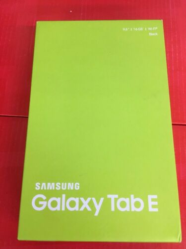 "NEW SAMSUNG GALAXY TAB E SM-T560 16GB WI-Fi 9.6"" TABLET BLACK"