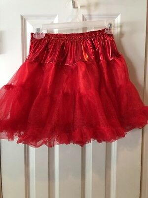 NEW Red Petticoat Puff Skirt Adult Halloween Tutu Size Small / Medium (Red Tutu Halloween Kostüm)