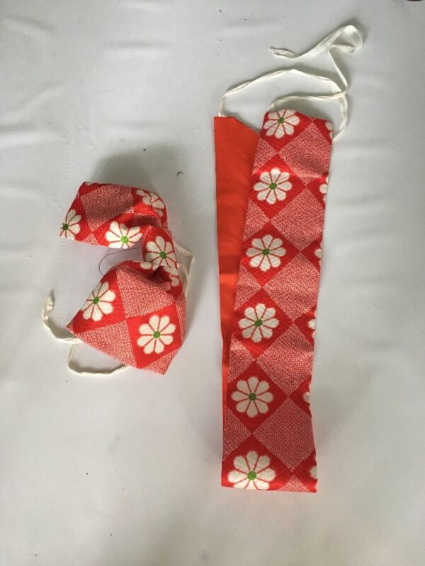 Japaneses Kimono Obi Belt And Bow Vintage