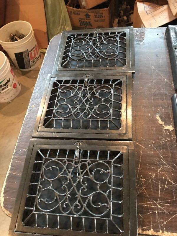 T 17 11 available price each 10 x 12 swirly wall mount heating Grate