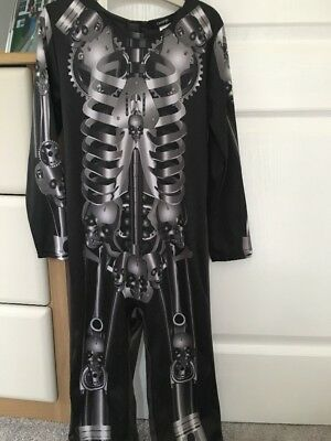 Boy George Halloween Kostüme (Boys Halloween George Skeleton Dress Up, Age 5-6 Years)