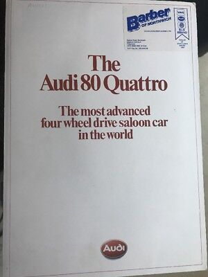 Car Brochure - 1983 Audi 80 Quattro - UK