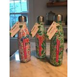 NWT Starbucks Swell Lilly Pulitzer Metal Water Bottle NEW S'Well Green Floral