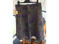 Crew Clothing Company - Mayfair Skirt - Colour 'Otter' - Size 12 - BNWT