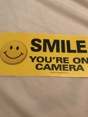 SMILE YOUR ON CAMERA VINYL DECALS STICKER for home cars walls cups bumper sticke