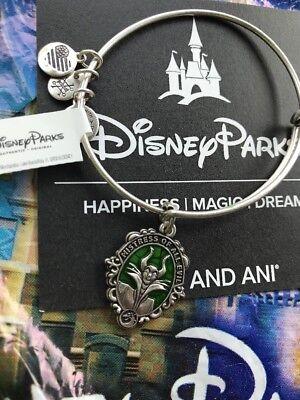 Disney Alex And Ani Villains Maleficent Silver Bracelet Mistress Of All Evil NEW