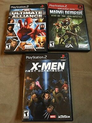 Ps2 Lot  Marvel  Ultimate Alliance  X Men Next Dimension  Rise Of The Imperfects