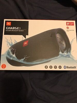 JBL CHARGE 3 BLUETOOTH WATERPTOOF SPEAKER 20 HOUR BATTERY for sale  Shipping to South Africa