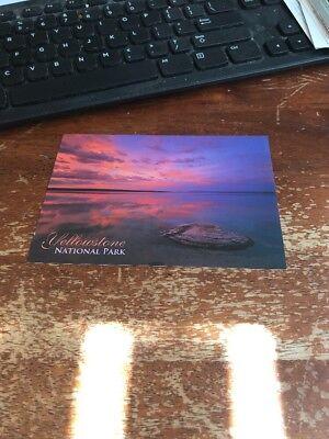 Postcard 115-D Yellowstone National Park Sunset Sunset Yellowstone National Park