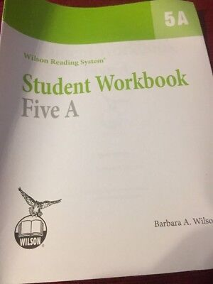 WILSON READING SYSTEM: STUDENT WORKBOOK, FIVE A