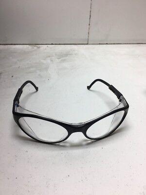 Uvex Bandit Safety Glasses With Clear Lens Black Frame