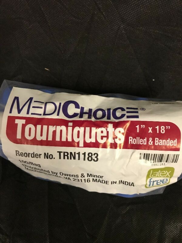 "MEDICHOICE  TRN1183 Latex Free 1""X18"" Stretch Tourniquets Roll, 100/PK"
