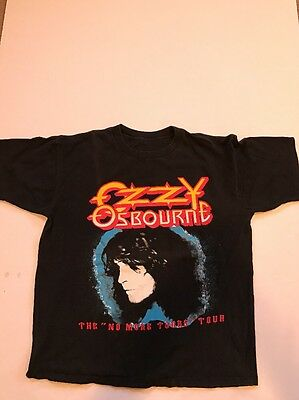 Vintage 90s 1992 Ozzy Osbourne No More Tours Tour Concert Shirt Mens Large