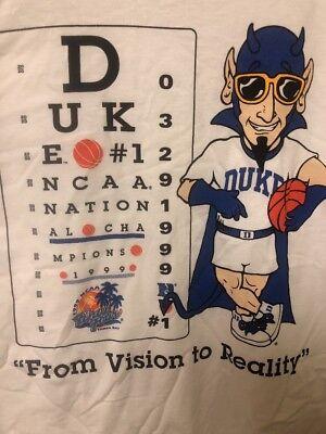 - NEW T-shirt Duke 1999 NCAA National Champions Men's Basketball Adult Large