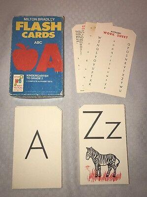 Milton Bradley Vintage ABC Alphabet Flash cards Complete Set 1963