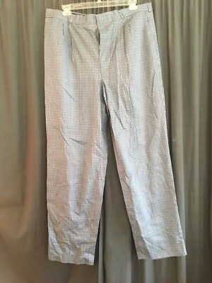 Nwt Chef Works Gray Striped Checkered Restaurant Designer Pants Adult Mens 4436