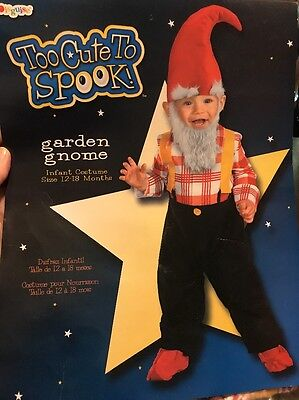 Garden Gnome Costume Infant (12-18 Months) Free Shipping!](Gnome Costume Baby)