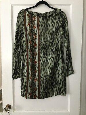 Kenya Silk Print (Suno Dress Animal And FORAL Print Long Sleeve Sz S BEAUTIFUL )
