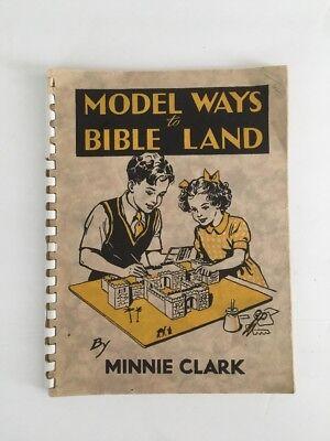 Kids Craft  Model Ways To Bible Land Vintage Book - Bible Craft