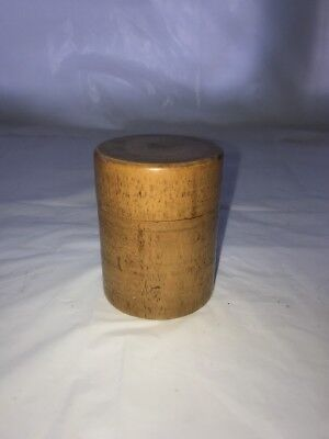 Fine Antique Treen Wood Small Circular Holder Free Uk P&P