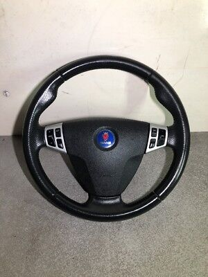 SAAB 9-3 LEATHER SPORT STEERING WHEEL WITH A/B COMPLETE YEAR 2006