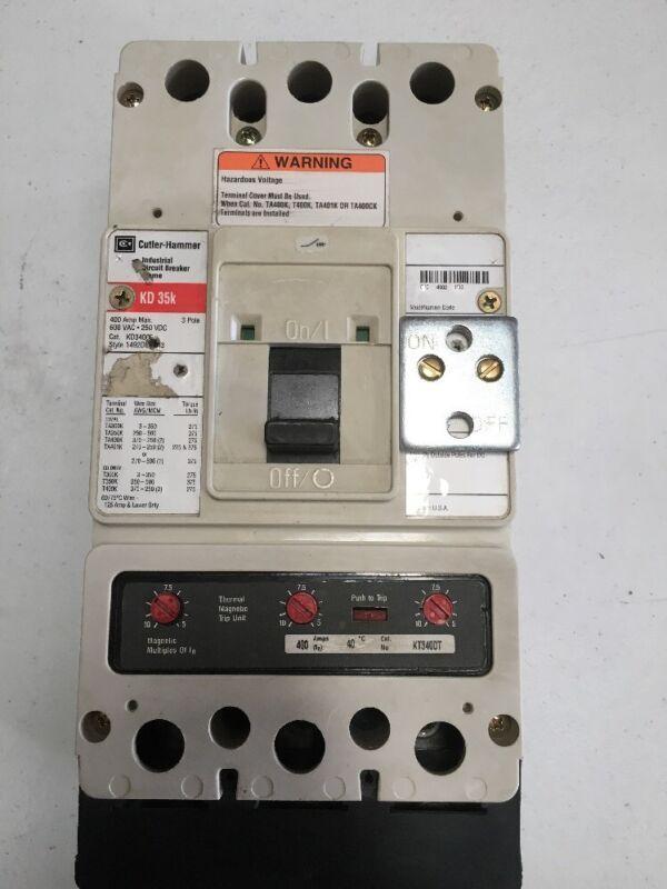 Cutler Hammer KD3400F Breaker 225 amp KT3225T Trip 2 year warranty