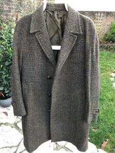 "Genuine Vintage Dunn & Co Harris Tweed Green Coat Size L 42"" Approx Pit2Pit 23"""