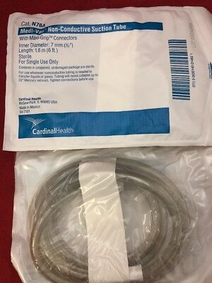 New Lot Of 10 Cardinal Health Medi-vac Non-conductive Suction Tube N76a 7mm X 6