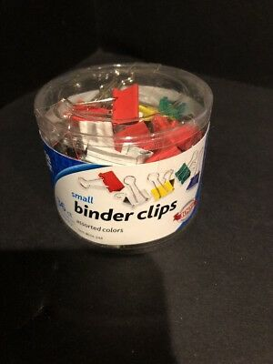 36 Pcs Small Binder Clips Assorted Colors For Document Papers Office Depot New