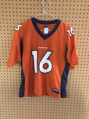 cea3fdb476d Vintage Denver Broncos Jake Plummer Orange Jersey Youth Large Reebok NFL #16