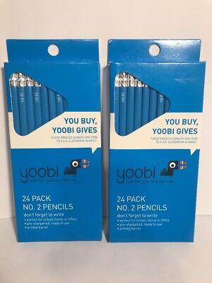 Yoobi No. 2 Triangle Pencils Two 24-packs 48 Total Pencils New 2 Triangular