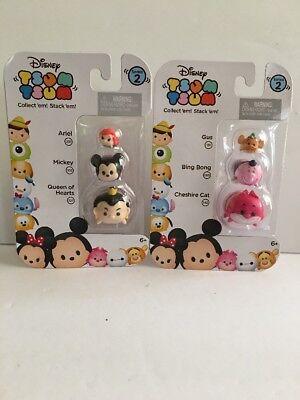 Disney Tsum Tsum 3 Pack Cheshire Cat/Bing Bong/Gus &Queen of Hearts/Mickey/Ariel