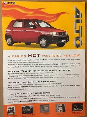 Car Brochure - 2001 Maruti Suzuki Alto - India