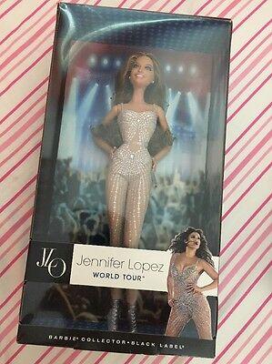 "Jennifer Lopez  ""JLO""    barbie {black label}  2013 collector doll World Tour"