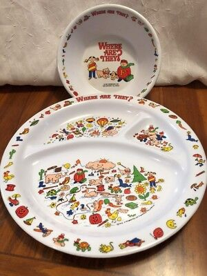 Where Are They Kids Books Plate And Bowl