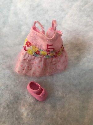 Barbie Sister Kelly Chelsea Doll Pink # 5 Polkadot Flower Dress Pink Shoes segunda mano  Embacar hacia Mexico