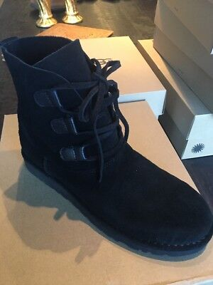 UGG Womens Elvi  Boot,Black,SIZE 10 NEW WITH BOX  W LACES