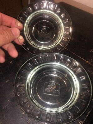 2 Vintage Best Western Motels Glass Ash Trays