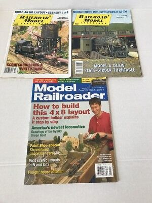 Lot of 3 Railroad Magazines Railroad Model Craftsman, Model Railroader 2006/2007
