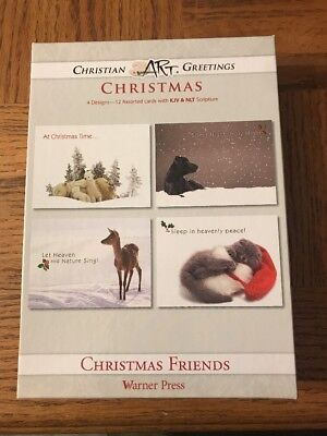 Christmas Friends - Boxed Greeting Cards - Christmas - KJV and NLT Scripture