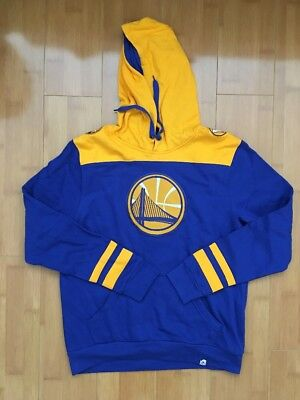 Golden State Warriors Royal/Gold Triple Double Pullover Hoodie Not Nike Large - Gold State Warriors