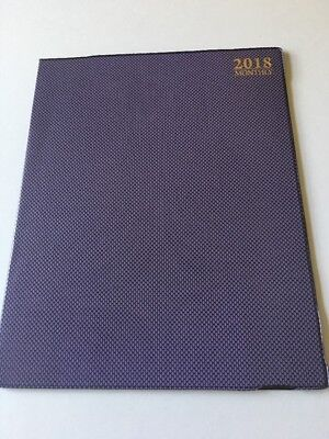 2018 Dated Day Planner Calendar Appointment Book Monthly Purple 8x10