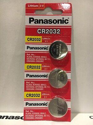 3 Pack Panasonic cr2032 3v lithium battery Fresh USA Seller Exp. 2027
