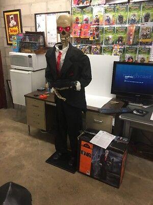 Gemmy Lifesize Animated Skeleton Butler Halloween Prop Serving - Halloween Butler