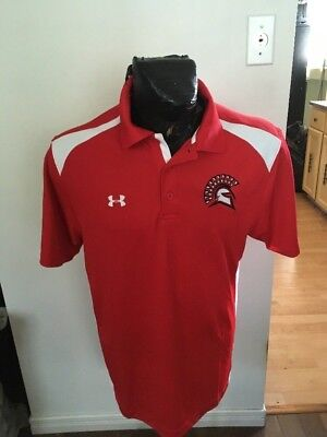 Collared POLO GOLF Shirt MENS Size Medium UNDER ARMOUR TROJANS  for sale  Shipping to Nigeria
