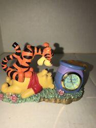 "Disney Winnie Pooh Piglet Clock Best Friends Fantasma Figurine Desk Clock 3""x5"""