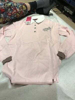 Rockfish Riders Pink Rugby Shirt Cross Country Riding Top 10-11 years NEW