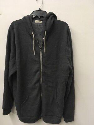 Ca Man Hoody -  marine layer new  gray Men's quality made in ca Grey Zip up Hoodie Sweatshirt t